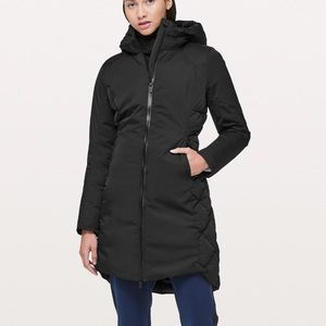Fluff the cold parka, lululemon, size 8, black